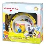 Woezel en Pip melamine kinderservies geel