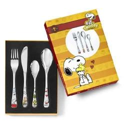 Snoopy kleur kinderbestek 4-delig
