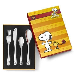 Snoopy rvs kinderbestek 4-delig